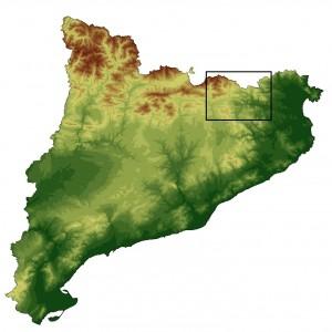 Mapa Catalunya cims