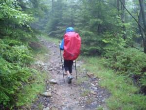 caminant amb pluja